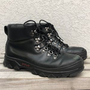 POLO Ralph Lauren Hainsworth Black Leather Boots